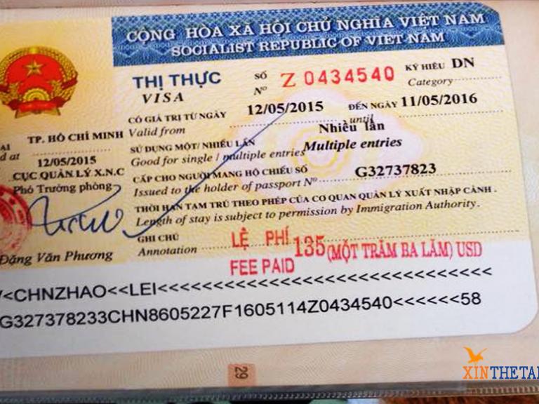 Lịch trình dán visa tại cửa khẩu Mộc Bài