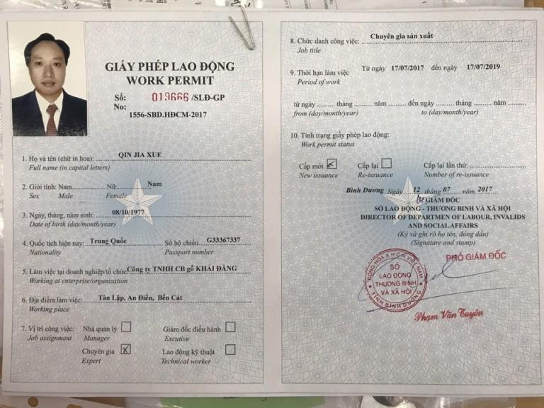 Kinh nghiệm để xin cấp giấy phép lao động