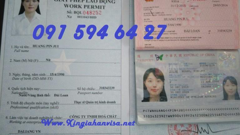 giấy phép lao động Việt Nam gấp