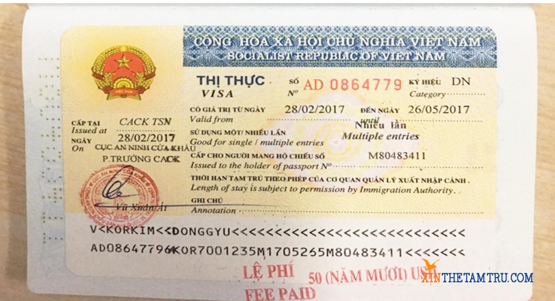 Cách xin visa tại cửa khẩu Mộc Bài