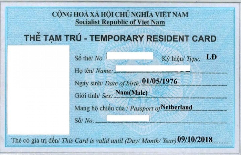 Xin thẻ tạm trú cho người Trung Quốc ở Việt Nam