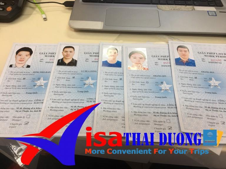 dịch vụ làm giấy phép lao động bao công ty